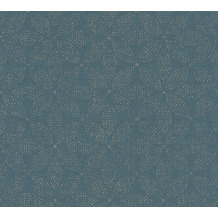 AS Création Vliestapete Ethnic Origin Tapete im Ethno Look metallic blau 371762 10,05 m x 0,53 m