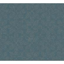 AS Création Vliestapete Ethnic Origin Tapete im Ethno Look metallic blau 371762