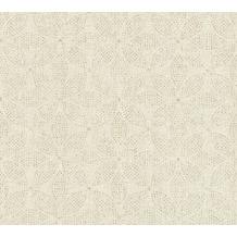 AS Création Vliestapete Ethnic Origin Tapete im Ethno Look metallic creme 371766 10,05 m x 0,53 m