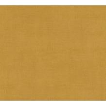AS Création Vliestapete Ethnic Origin Tapete Uni gelb metallic 371754