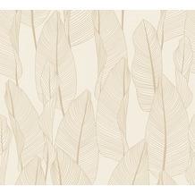 AS Création Vliestapete Exotic Life Tapete mit Blättern floral beige creme grau 364977 10,05 m x 0,53 m