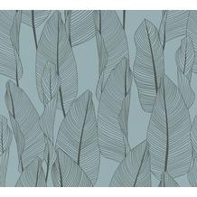AS Création Vliestapete Exotic Life Tapete mit Blättern floral blau 364972 10,05 m x 0,53 m