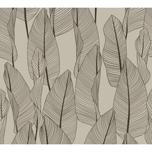 AS Création Vliestapete Exotic Life Tapete mit Blättern floral braun schwarz 364976 10,05 m x 0,53 m
