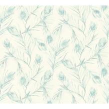 AS Création Vliestapete Exotic Life Tapete mit Palmenblättern blau creme metallic 373671 10,05 m x 0,53 m