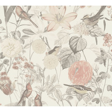 AS Création Vliestapete Exotic Life Tapete tropisch floral natürlich grau rosa 372762 10,05 m x 0,53 m