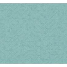 AS Création Vliestapete Exotic Life Tapete Uni geometrisch grafisch blau grün 372847 10,05 m x 0,53 m