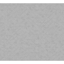 AS Création Vliestapete Exotic Life Tapete Uni geometrisch grafisch grau 372846 10,05 m x 0,53 m