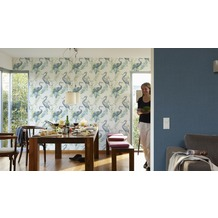 AS Création Vliestapete Four Seasons Tapete blau gelb rosa 10,05 m x 0,53 m