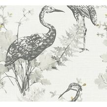 AS Création Vliestapete Four Seasons Tapete grau gelb schwarz 360923
