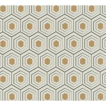 AS Création Vliestapete Four Seasons Tapete metallic beige schwarz 358991 10,05 m x 0,53 m