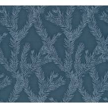 AS Création Vliestapete Four Seasons Tapete metallic blau 358985 10,05 m x 0,53 m
