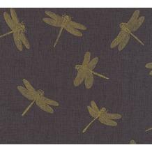 AS Création Vliestapete Four Seasons Tapete metallic schwarz 358973 10,05 m x 0,53 m