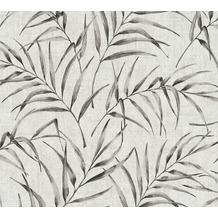 AS Création Vliestapete Greenery Tapete mit Palmenprint in Dschungel Optik grau beige 373352 10,05 m x 0,53 m
