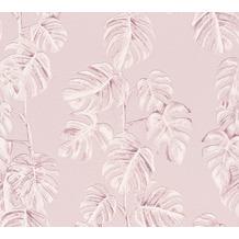AS Création Vliestapete Greenery Tapete mit Palmenprint in Dschungel Optik rosa weiß 372811
