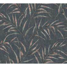 AS Création Vliestapete Greenery schwarz rosa grün 373355 10,05 m x 0,53 m