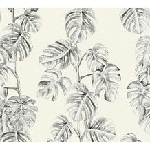AS Création Vliestapete Greenery schwarz weiß grau 372812 10,05 m x 0,53 m