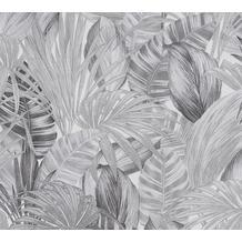 AS Création Vliestapete Greenery weiß schwarz grau 368203 10,05 m x 0,53 m