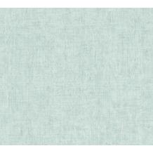 AS Création Vliestapete Greenery Tapete Uni in Vintage Optik blau 373345 10,05 m x 0,53 m
