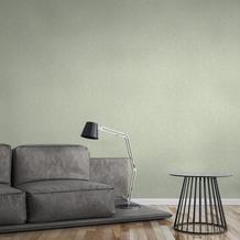 AS Création Vliestapete Greenery Tapete Uni in Vintage Optik grün 373342 10,05 m x 0,53 m