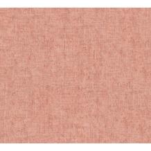 AS Création Vliestapete Greenery Tapete Uni in Vintage Optik rosa orange rot 373343 10,05 m x 0,53 m