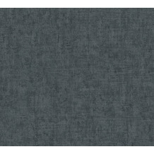 AS Création Vliestapete Greenery Tapete Uni in Vintage Optik schwarz grau 373346 10,05 m x 0,53 m