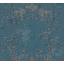 AS Création Vliestapete History of Art Barocktapete blau silber 376485 10,05 m x 0,53 m