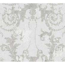 AS Création Vliestapete History of Art Barocktapete grau weiß 376481 10,05 m x 0,53 m