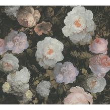 AS Création Vliestapete History of Art Rosentapete rosa grün weiß 376505 10,05 m x 0,53 m