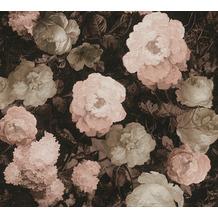 AS Création Vliestapete History of Art Rosentapete rosa rot grau 376504 10,05 m x 0,53 m