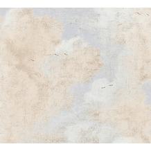 AS Création Vliestapete History of Art Tapete in Vintage Optik creme weiß grau 376492 10,05 m x 0,53 m