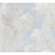 AS Création Vliestapete History of Art Tapete in Vintage Optik grau blau 376493 10,05 m x 0,53 m