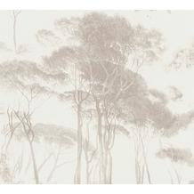 AS Création Vliestapete History of Art Waldtapete braun weiß 376514 10,05 m x 0,53 m