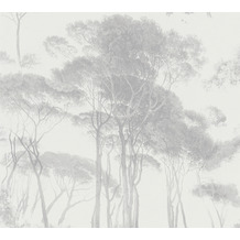 AS Création Vliestapete History of Art Waldtapete grau weiß 376513 10,05 m x 0,53 m