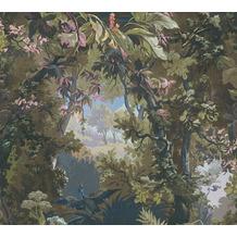 AS Création Vliestapete History of Art Waldtapete grün blau rosa 376522 10,05 m x 0,53 m