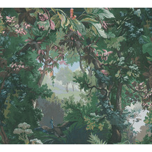 AS Création Vliestapete History of Art Waldtapete grün blau rosa braun 376521 10,05 m x 0,53 m