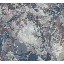 AS Création Vliestapete History of Art Waldtapete grün blau weiß 376523 10,05 m x 0,53 m