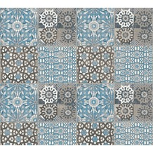 AS Création Vliestapete Il Decoro Tapete in mediterraner Fliesen Optik blau grau schwarz 368955 10,05 m x 0,53 m