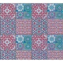 AS Création Vliestapete Il Decoro Tapete in mediterraner Fliesen Optik blau grün rot 368952 10,05 m x 0,53 m