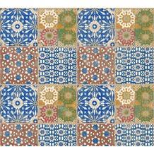 AS Création Vliestapete Il Decoro Tapete in mediterraner Fliesen Optik braun grün rot 368951 10,05 m x 0,53 m