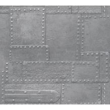 AS Création Vliestapete Il Decoro Tapete in Metall Optik grau metallic 364943 10,05 m x 0,53 m