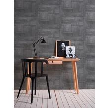 AS Création Vliestapete Il Decoro Tapete in Metall Optik grau metallic schwarz 364941 10,05 m x 0,53 m