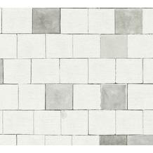 AS Création Vliestapete Il Decoro Tapete in Stein Optik grau weiß 368551 10,05 m x 0,53 m