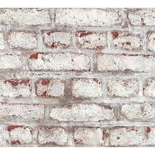 AS Création Vliestapete Il Decoro Tapete in Vintage Backstein Optik braun grau weiß 362801