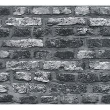 AS Création Vliestapete Il Decoro Tapete in Vintage Backstein Optik grau schwarz 362812 10,05 m x 0,53 m