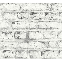 AS Création Vliestapete Il Decoro Tapete in Vintage Backstein Optik grau weiß 362802 10,05 m x 0,53 m