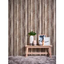 AS Création Vliestapete Il Decoro Tapete in Vintage Holz Optik beige braun grau 10,05 m x 0,53 m
