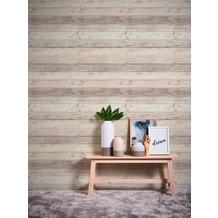 AS Création Vliestapete Il Decoro Tapete in Vintage Holz Optik beige grau weiß 368702 10,05 m x 0,53 m