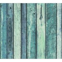 AS Création Vliestapete Il Decoro Tapete in Vintage Holz Optik blau grün 362821 10,05 m x 0,53 m