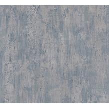 AS Création Vliestapete Il Decoro Tapete in Vintage Optik blau metallic 364934 10,05 m x 0,53 m