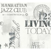 AS Création Vliestapete Il Decoro Tapete New York City grau schwarz weiß 368122 10,05 m x 0,53 m